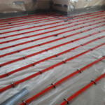 Underfloor Heating - Clipped to insualtion